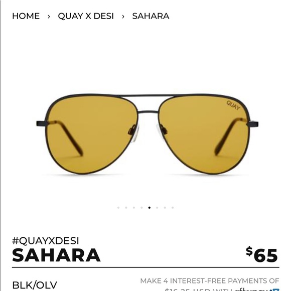 Quay Australia Accessories - Quay x Desi Perkins SAHARA in black/olive USED